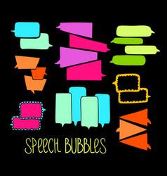 Hand-drawn speech bubbles-06 vector