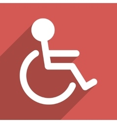 Handicapped Flat Long Shadow Square Icon vector image