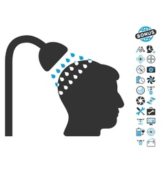 Head Shower Icon With Air Drone Tools Bonus vector