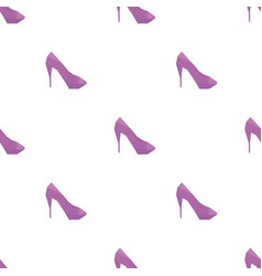high heel shoes shape pattern backgrounds vector image