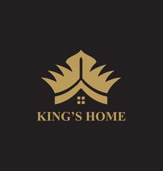 Kings home logo icon design template vector