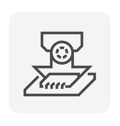 laptop icon black vector image