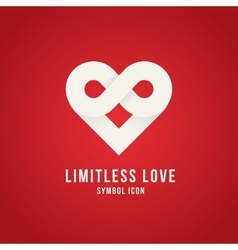 Limitless Love Concept Symbol Icon Logo Template vector