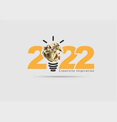 Logo 2022 new year creativity inspiration vector