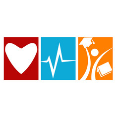Love health student care vector