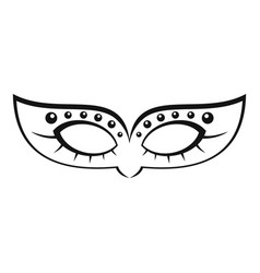 mardi carnival mask icon simple style vector image