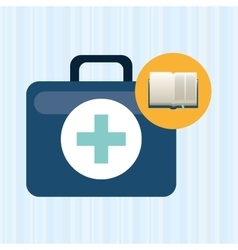 medical book design vector image