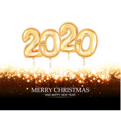 new year golden balloon golden metallic numbers vector image