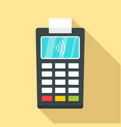 Nfc payment terminal icon flat style vector