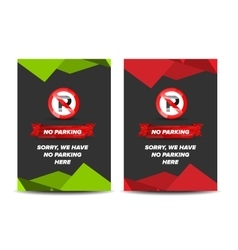 No parking leaflet vector