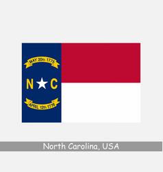 north carolina usa state flag nc usa vector image