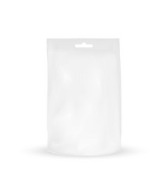 packaging white packaging bag with hole to hang vector image