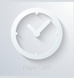 Paper Clock Watch Icon vector