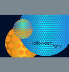 party invitation halloween blue vector image