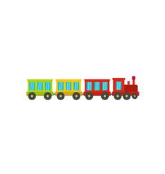 passenger train icon flat style vector image