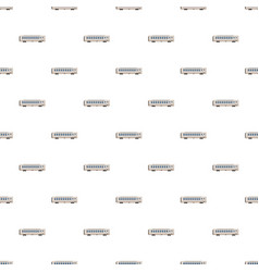 Passenger wagon pattern vector