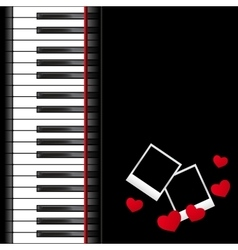 piano template vector image