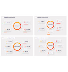 Presentation infographic templates in a modern vector