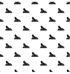 Princess shoes pattern seamless vector
