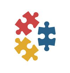 Puzzle pieces icon image vector