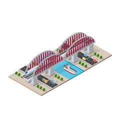 railroad isometric bridge vector image