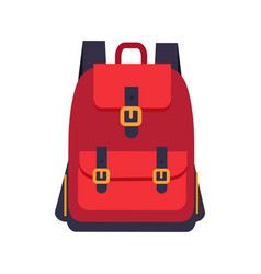 red backpack with black slings colorful banner vector image
