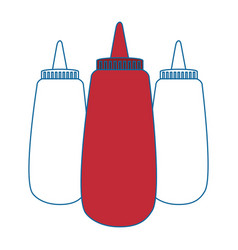 Sauce plastic bottle vector