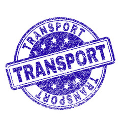 Scratched textured transport stamp seal vector