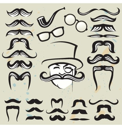 Set mustaches vector