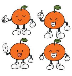 set of orange vector image