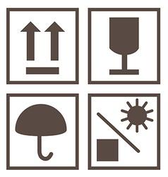 Shipping symbols vector