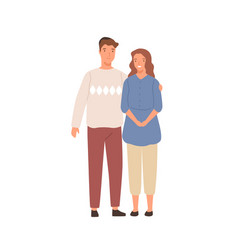 smiling jewish couple standing together vector image