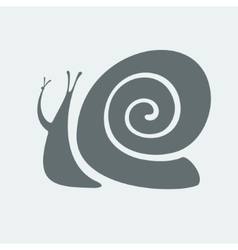 Snail symbol vector