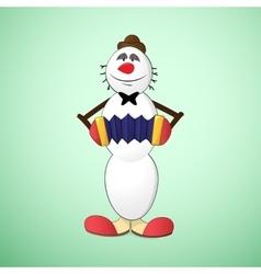 Snowman clown vector image