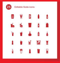 Soda icons vector