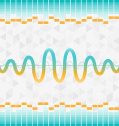 Sound and audio waves equalizer background vector