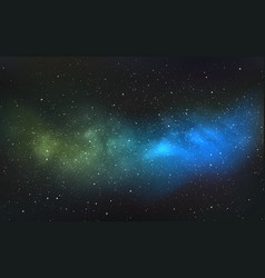space background realistic starry cosmos vector image
