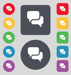 Speech bubble Think cloud icon sign A set of 12 vector image