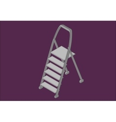 Step ladder isometric flat vector image