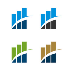 stock exchange insurance logo template vector image
