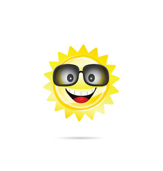 sun sweet with sunglasses vector image