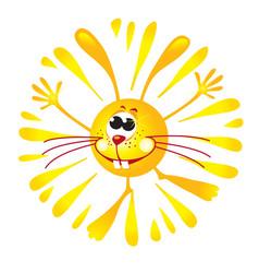 sunny bunny mascot shining and smiling vector image