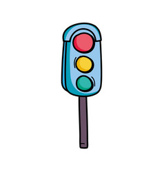 traffic light object to urban caution vector image