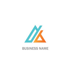 triangle line abstract colored business logo vector image