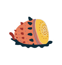 tropical shell underwater colorful sea creature vector image