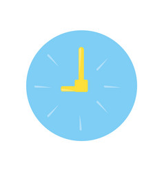 Wall clock cartoon vector