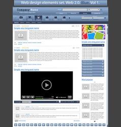 web design elements blue 1 vector vector image