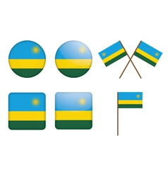 badges with flag of Rwanda vector image vector image