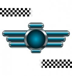 chromo badge vector image