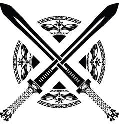 fantasy swords third variant vector image vector image
